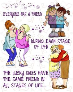 The Lucky ones Cute Friendship Quotes, Friend Friendship, Cute Quotes, Funny Quotes, Special Friend Quotes, Best Friend Quotes, Birthday Images, Birthday Quotes, Senior Humor