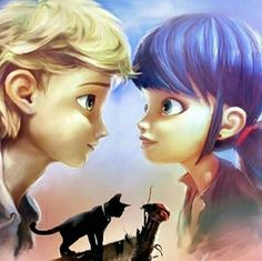 Adrien x Marinette  Cat x Ladybug