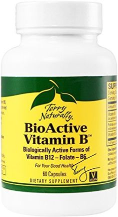 Terry Naturally BioActive Vitamin B 60 Capsules FFP ** For more information, visit image link. (Note:Amazon affiliate link)
