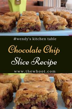 Chocolate Chip Slice Recipe Easy Video Instructions