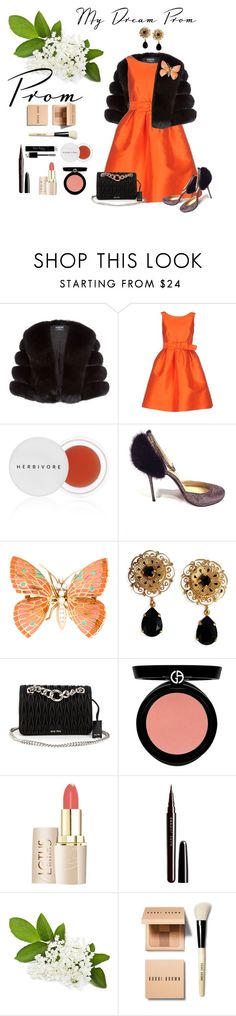 """Sans titre #906"" by vubaotramanh ❤ liked on Polyvore featuring Harrods, P.A.R.O.S.H., Christian Louboutin, Dolce&Gabbana, Miu Miu, Armani Beauty, Marc Jacobs, Christian Dior and Bobbi Brown Cosmetics"