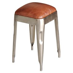 Iron and Leather Dining Stool  $213.00