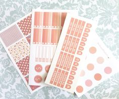 Matte Planner sticker sheet set of four by BelleandBlakeCo on Etsy