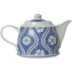 Villeroy & Boch Farmhouse touch blueflowers teapot 1,25l (£33) ❤ liked on Polyvore featuring home, kitchen & dining, teapots, sale, tea-pot, tea pot and blue and white teapot