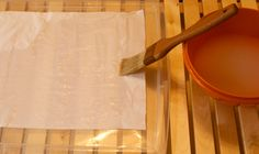 cornstarch paste for diy window film (old sheets. yes)