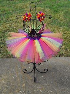 Tropical Rainbow Tutu by Lovebug's Bowtique size newborn - 5T $15.00 (matching hair bows sold separately) www.Lovebugsbowtique10.etsy.com www.Facebook.com/Lovebugsbowtique10