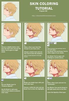 SKIN COLORING TUTORIAL by chisachan2010.deviantart.com on @deviantART