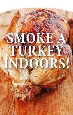 Michael Symon explained how you can turn your kitchen oven into a smoker and create an Oven Smoked Turkey for Thanksgiving that cooks in about four hours. http://www.recapo.com/the-chew/the-chew-recipes/chew-michael-symon-oven-smoked-turkey-sage-thyme-recipe/