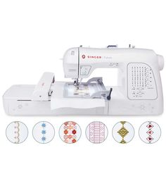 The SINGER XL-420 FUTURA embroidery and sewing machine includes innovative features that allow you to do more than ever before. With an Endless Hoop, Knee Lifter for hands-free presser foot lifting, E