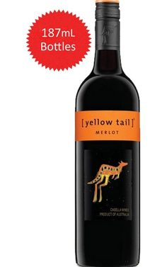 Yellow Tail Merlot South Eastern Australia 187mL #YellowTail #Merlot #CheapWine #Wine #Australia #Justwines Yellow Tail Wine, Shiraz Wine, Carbs In Beer, Wine Varietals, Wine Names, Wine Auctions, Wine Down, Cheap Wine, Paraty