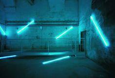 Zentrum für Internationale Lichtkunst in Unna, No End Neon (Pier and Ocean) 2001/2002 by Francois Morellet @  via lichtkunst-unna.de