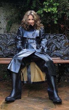 Black Rubber Raincoat & Black Rubber Waders