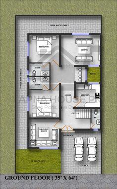3d House Plans, Indian House Plans, Courtyard House Plans, Model House Plan, Best House Plans, House Structure Design, Bungalow House Design, Small House Design, Bungalow Floor Plans