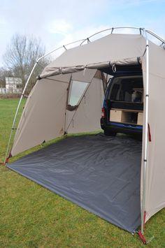 Vaude Drive Van Driveaway rear van awning, Amdro Alternative Camper Conversions                                                                                                                                                                                 More