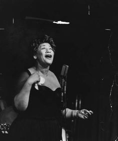 Ella Fitzgerald is tied for the fifth most Grammy awards for a female performer, with 13. Pictured in 1958.