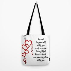 Chained Heart for valentines day Tote Bag Love bears all things, believes all things, hopes all things, endure all things, LOVE NEVER ENDS