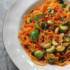 Reminder how to cookie sweet potato noodles.  But mostly, it's just a little oil, high heat, saute...