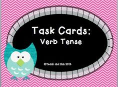 Engaging activity that allows the students to practice verb tense. Can be used as a literacy center, assessment, or bell work.