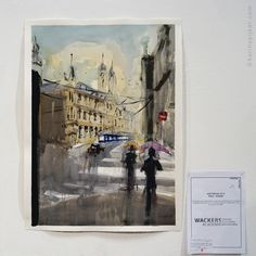 Pintar Rapido Amsterdam 2015 water color on paper