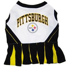 afc3fc6a2 Pittsburgh Steelers NFL Football Pet Cheerleader Outfit