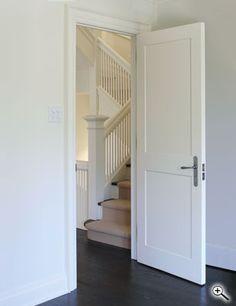Interior Doors | white two-paneled interior door | Bayer Built Woodworks