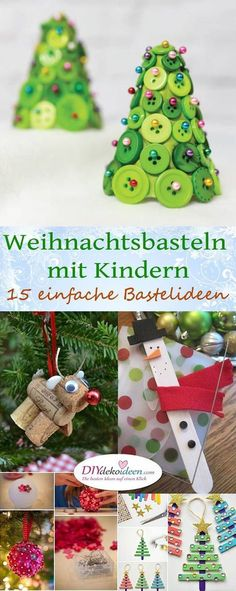 15 einfache DIY Bastelideen frs Weihnachtsbasteln mit Kindern Easy Diy Crafts easy diy costumes for adults Kids Crafts, Easy Diy Crafts, Diy Crafts To Sell, Fall Crafts, Simple Crafts, Christmas Ornament Crafts, Christmas Crafts For Kids, Christmas Diy, Christmas Decorations