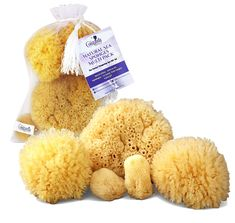 Natural Sea Sponges 5 pc Multi Pack the Perfect Spa Gift Set to Pamper Moms, Brides, Girlfriends, Teens