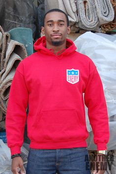 EFL Logo Hoodie in Red - $65.00 - www.AnotherEnemy.com - Another Enemy