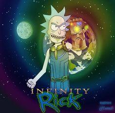 """I'm Thanos RIIIIICK!"" Rick and Morty x Avengers"