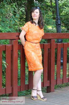 Sukienka kimono (szycie krok po kroku) + opis jak przygotować szablon | ETI-Blog o szyciu Janome, Wrap Dress, Kimono, Sewing, Blog, Handmade, Dresses, Fashion, Tunic