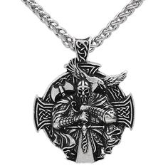 Necklaces & Pendants Jewelry & Accessories Valknut Rune Runic Norse Viking Elder Futhark Talisman Pewter Pendant Amulet W Black Ball Chain With A Long Standing Reputation