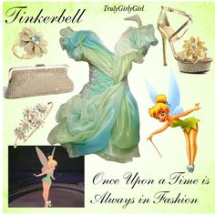 Disney Style: Tinkerbell, created by trulygirlygirl on Polyvore