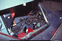One of the few shots of the cockpit of the Recon version of the SR71 Blackbird. - Photo taken at Edwards - AFB (EDW / KEDW) in California, USA in 2001.