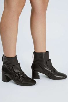 Shoes - Leather detailed boots.