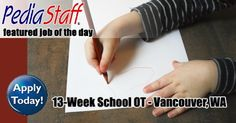 13 Week School Occupational Therapist – Vancouver, WA - pinned by @PediaStaff – Please Visit  ht.ly/63sNt for all our pediatric therapy pins
