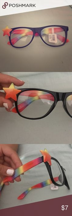 026fbafd256 Clear rainbow glasses Children s clear glasses from Claire s with tag still  attached. No prescription glasses are fake and just for play.
