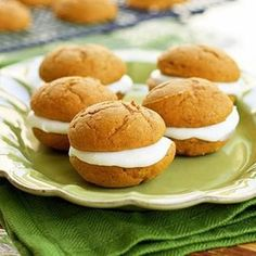Pumpkin Whoopie Pies {Thanksgiving Desserts} :Pie Shop #pie #shop #atlanta #buckhead #slice #dessert #yum #sweet #baking #kitchen #tradition #sweet #savory #lunch #pieshop #wedding #birthday #specialorder www.the-pie-shop.com