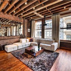 Rustic elegant living room loft