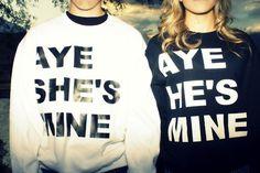 cute couple shirts. <3