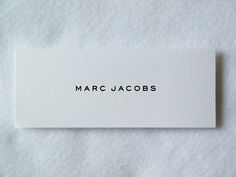 Marc Jacobs Swing Tag