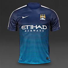 Nike Man City FC Squad SS Pre Match Top - Midnight Navy White 2a36693d5f53f