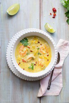 sopa tailandesa de camarão e coco, a surpresa light que o meu querido marido mistério me vai preparar (mas ainda não sabe!)