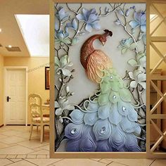 Cross paintings - special drill Cartoon animal round diamond embroidery peacocks cross stitch embroidery full home and hotel decorative hot sale Clay Wall Art, Mural Wall Art, Peacock Wall Art, Mosaic Animals, Plaster Art, Cross Crafts, Cross Stitch Animals, 5d Diamond Painting, Cross Paintings