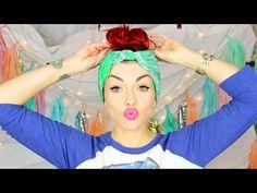 Cute & Fast (No Heat) Bandana Hairstyle - YouTube