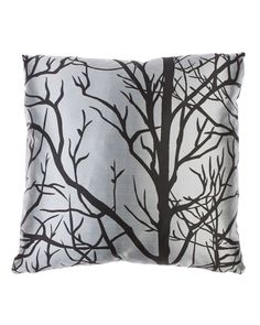 Decor 55 'Trees Black' Decorative Pillow. This with a darker Once Upon a Time pillow would be great party decor!