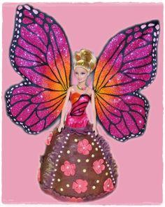 Jaaa endlich – mein erster Barbie Kuchen | Kuchenkrümel