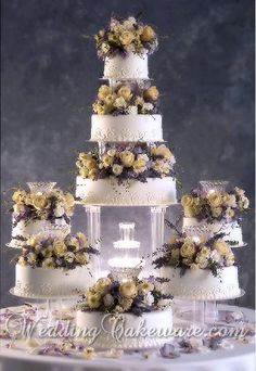 8 Tier Cascade Fountain Wedding Cake Stand Stands Set