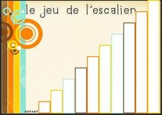 Le jeu de l'escalier de Brissiaud, plateau de jeu - Fiches de préparations (cycle1-cycle 2-CLIS) Math Gs, Act Math, Kindergarten Math, Kids Writing, Writing Activities, Anchor Charts First Grade, Star Wars Classroom, First Day Jitters, Brag Tags