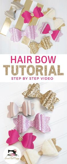 3 Layer Girls Chunky French Bow DIY & Tutorial #crafty #hairbow