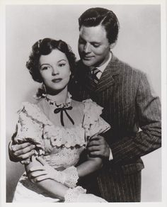 """Shirley Temple in """"Adventure in Baltimore"""" with husband, John Agar. (1949)"""